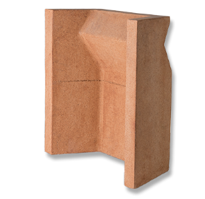 "Clay 18"" Solid Milner Fireback"